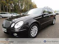 MERCEDES E CLASS E220 CDI ELEGANCE, Black, Manual, Diesel, 2007 GREAT HISTORY,