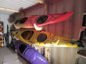 14 foot Necky Zoar kayak, with rudder and two dry hatches