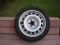 BMW steel rims with winter tires -- 225/45/17