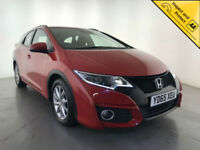 2015 HONDA CIVIC I-DTEC SE PLUS NAVI DIESEL ESTATE 1 OWNER SERVICE HISTORY