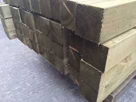 🌳 Wooden Pressure Treated 🆕 Posts