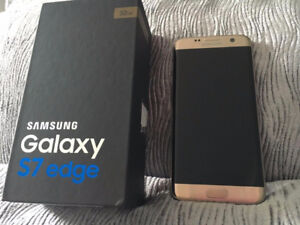 Samsung S7 Edge, Gold, Unlocked, new Inbox with accessories,$570