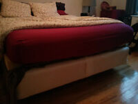 QUEEN BOXSPRING WITH METAL FRAME INCLUDED