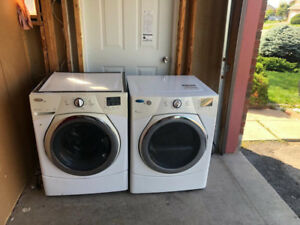 """LG 27"""" White Front Load Washer And Dryer For Sale"""