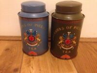 Jacksons of Picadilly tea caddy vintage collector item