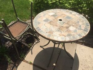 Stone Patio Bistro Set