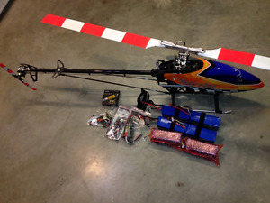 trex 700 flybarless helicopter heli