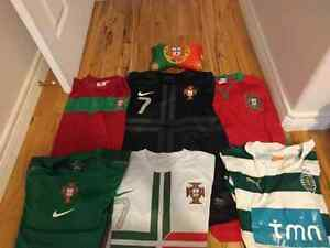 Men's Portugal soccer team shorts, shirts, Jersey and travel pil