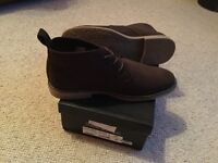 Men's suede boots, brand new, never worn