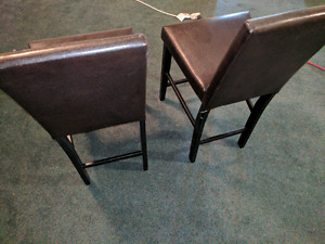Pair of used leather chairs
