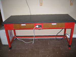 Worktable with Chemical resistant top