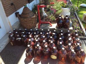 Grand recipient en verre 50L (pour garder le vin)/Demijohn 50L