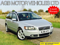** VOLVO V50 ESTATE 2.0D DIESEL SE MODEL WITH FULL LEATHER MANUAL **
