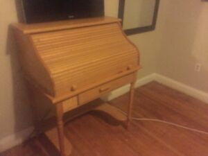 Roll Top Desk. Mennonite made of solid wood