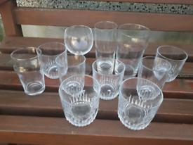 Joblot Of 11 Drinking Glasses
