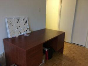Large Black Cherry Wooden Desk - $50 OBO