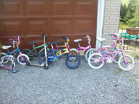 7 kids bikes 12 - 16 inch and 2 scooters