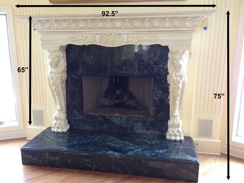 Enkeboll Design Fireplace Mantel ( Mantle ) Lion Base Surround