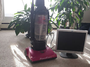 Bissell powerforce vacuum and 17inch monitor
