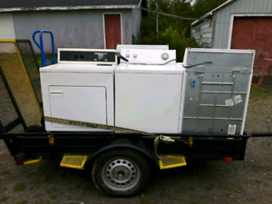 Offering Free Pickup of broken washers and dryers.