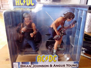 2007 NECA AC/DC Brian Johnson & Angus Young 2 Pk. Action Figures