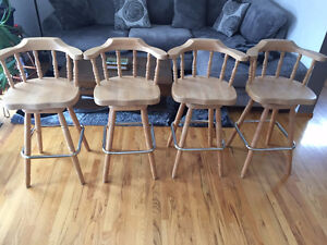 Solid MAPLE Bar Stools - set of 4