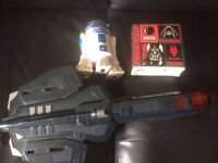 R2 D2 Bank and Toy gun for sale