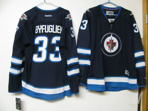 WINNIPEG JETS HOCKEY JERSEY NWT YOUTH/ADULT OFFICIAL BYFUGLIEN