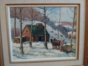 "Bruce Mitchell 20"" x 16"" Sugar Shack oil painting"