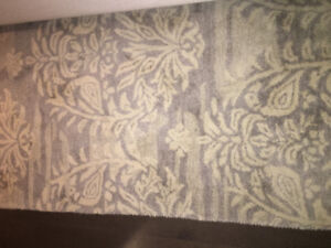 Pottery Barn Wool Rug - 5x3 - Grey/Ivory