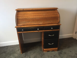 Roll Top Desk - Solid Pine