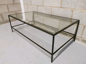 Gallery Direct Outline Bronze Bevelled Glass Industrial Coffee Table
