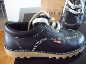 NAVY LEATHER SHOES FOR KIDS MADE IN ITALY - SIZE 30 ( 11,5 )