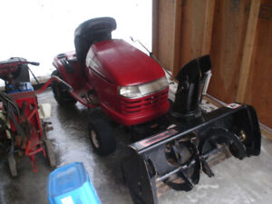 Craftsman rider with Berco snowblower