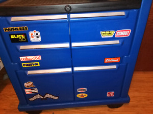 Plastic tool box shelve