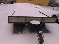 TRAILER PLATE FORME DOUBLE