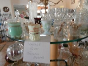 Vintage Glass Toothpick Holders at KeepSakes Antiques Shoppe