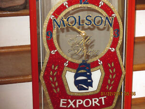 Molson Export Mirrored Clock.