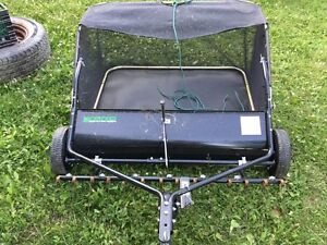 42 inch lawn sweeper and dethatcher