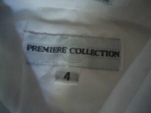 Boys Size 4 White Long Sleeve Dress Shirt Kingston Kingston Area image 3