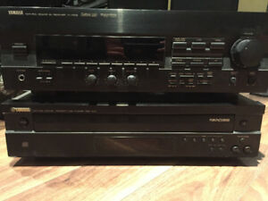 Yamaha Receiver and 5 Disk Player.