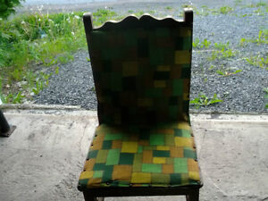 2 ANTIQUE HANDMADE CHAIRS WITH ORIGINAL MATERIAL St. John's Newfoundland image 1