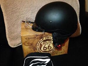 Motorcycle Zoan 1/2 helmet Flat Black