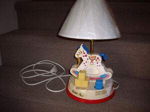 FISHER PRICE ROCKING HORSE NURSERY LAMP