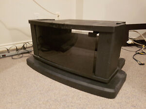 Black TV stand with Smoking Glass opener ( fits 34 inch or above
