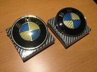 2x Vintage Carbon Fiber BMW Hood and/or Trunk Emblem