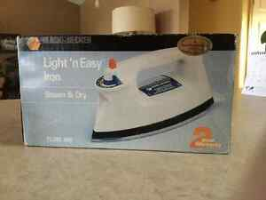 Black and decker steam iron  Brand new. Box never opened