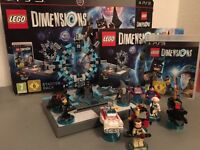 PS3 Lego Dimensions starter pack include extra 3 characters Good Condition