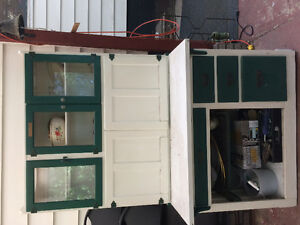 Antique Hoosier Sideboard and Hutch