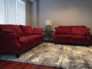 Micro Suede Sofa and Love Seat - Smoke Free/Pet Free Home